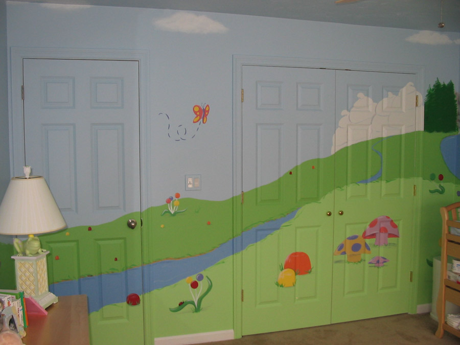 candyland mural once upon a painted wall candy land vinyl wall mural pixers 174 we live to change
