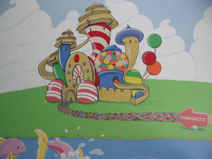 Candyland Mural Once Upon a Painted Wall